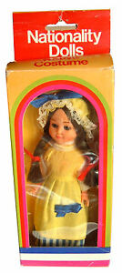 Vintage Early - Mid 1980s Boxed Nationality Girl Doll, France with sleepy eyes