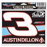 AUSTIN DILLON #3 ADVOCARE 4 X 6 NASCAR ULTRA DECAL 2013 RCR