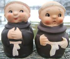 Vintage Monks Friars Salt Pepper Shakers 1950s JAPAN