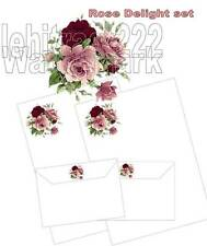 Rose Delight Letter Writing Paper Set with matching envelopes 20+10