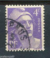 FRANCE, 1945-47, timbre 718a, violet vif, type MARIANNE de GANDON, oblitéré