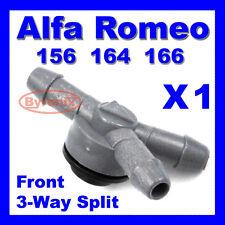 ALFA ROMEO 156 164 166 3 Three WAY PIPE VALVE WINDSCREEN WASHER JET SPLITTER