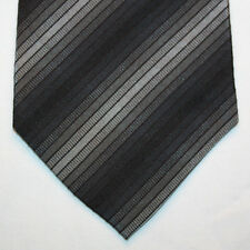 NEW Express Silk Neck Tie with Black Charcoal Gray Silver Stripes 1215