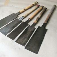 5 Japanese vintage woodworking carpentry tools saw nokogiri double blade