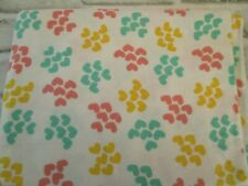 """Flannel Fabric Hearts Green Yellow Pink White 2 yds x 42"""" Cotton Flannel"""