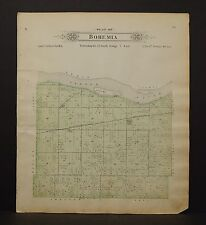 Nebraska Saunders County Map Bohemia Township  1907  Q7#76