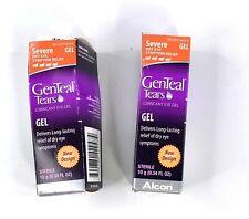 PAIR 2 GenTeal Tears Severe Dry Eye Lubricant Eye Gel Alcon exp 9/2020