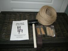 Fiber Rush Seating, Tools and Instructions. Repair Antique And Collectibles