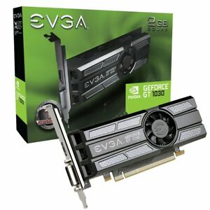 EVGA GeForce GT 1030 Graphic Card - 1.29 GHz Core - 1.54 GHz Boost Clock - 2 GB