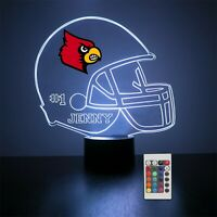 Louisville Cardinals Personalized Night Light Lamp NCAA College Football Light