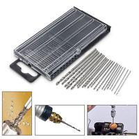 New 20Pcs Mini HSS High Speed Steel Twist Drill Bit Set Tool Craft With Case RF