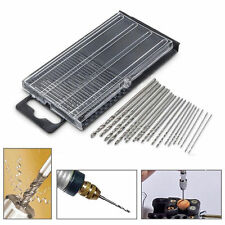 New 20Pcs Mini HSS High Speed Steel Twist Drill Bit Set Tool Craft With Case RF