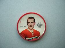 1961/62 SALADA FOODS / SHIRRIFF PLASTIC NHL HOCKEY COIN #118 J.C. TREMBLAY NICE