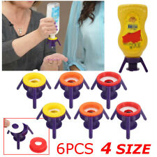 6Pcs Flip Toss It BottleCap Stand Kit Economy Liquid Dispenser System 4Sizes
