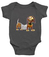 Infant Baby Boy Girl Rib Bodysuit Clothes Gift Toy Story Slinky Dog Dachshund
