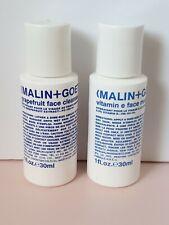 Malin + Goetz Pomelo Cara Limpiador 30ml y vitamina E Face Crema Hidratante 30ml Nuevo