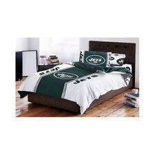 Jets Bedding Set NFL New York Logo Twin Comforter Sheet Case Football Fan Gear