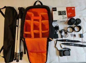 Sony Alpha A6000 24.3MP Mirrorless Digital Camera,50mm Lens,28-70mm Lens,Extras