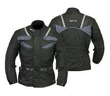 Men,s Motorcycle Motorbike Armoured waterproof Cordura Textile Jacket Black
