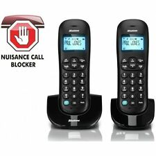 Binatone Vesta 1305 Twin Duo Black Cordless Home Phone Telephone + Call Blocker