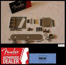Fender Telecaster Aged Relic Chrome Body Compensated Hardware Set - USA - Tele