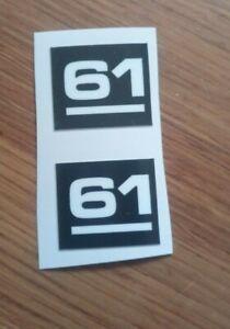2 Husqvarna 61  COVER sticker decal  replica