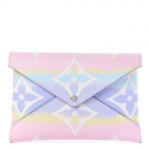 Louis Vuitton Ultra Rare Pink Tye Dye Escale Large Kirigami Pochette Pastel
