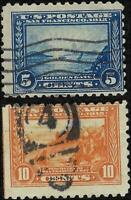 VEGAS - 1914-15 - Sc# 403, 404 - Used - Both Perf 10 - EW25