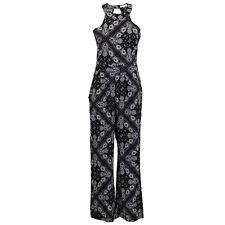 ladies dungaree Brave Soul paisley pattern jumpsuit key hole playsuit summer new