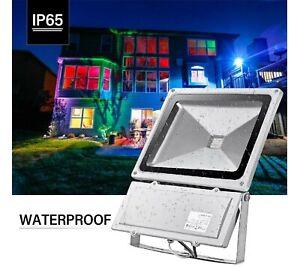 Projecteur LED 100W Extérieur RGB avec télécommande Etanche IP65 *NEUF*