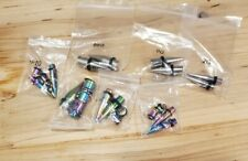 Silver 2G (Used) 0G 00G (New) 7 Pairs Stainless Tapers Multi color and