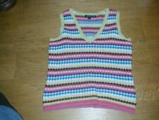 From BODEN colourful sleeveless jumper / Tank top   100% wool Fairisle style