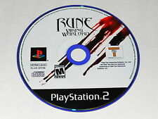 Rune Viking Warlord Sony Playstation 2 PS2 Video Game Disc Only