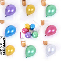 """5""""/7""""/10""""/12""""/18"""" Small & Large Round Chrome Gold latex 100ct Balloons Pearl UK"""