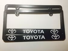 Toyota Plastic License Plate Frames Holder Decal Vinyl Tundra Corolla Camry Two