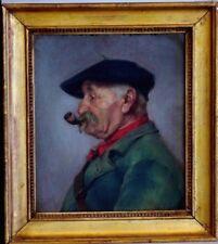 Tableau Paupion Edouard Gérôme fin 19ème Portrait