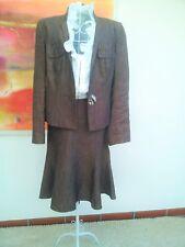 Eleganter Hosenanzug / Kostüm Damen 1-2-3 braun Hose/Rock Gr. 36, Jacke  Gr. 40