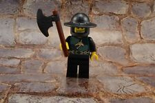 Lego Mini Figure Castle Kingdoms Dragon Knight Broad Brim Helmet and Axe 7188