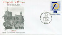 Monaco 2019 FDC Council of Europe 70 Years 1v Set Cover EU Politics Stamps