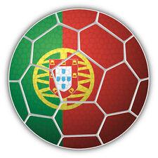Portugal Soccer Ball Flag Car Bumper Sticker Decal 5'' x 5''