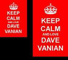 Keep Calm And Love Dave Vanian 2 Sided Keyring And Fridge Magnet Set