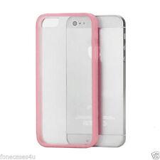 Fundas y carcasas lisas de plástico de color principal rosa para teléfonos móviles y PDAs