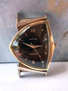 Hamilton Pacer Black Dial 1950s Vintage Watch