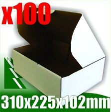 100 x Bx2 White Cardboard Boxes Box 310 x 225 x 102 mm