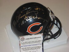 WILLIAM PERRY Signed Chicago BEARS Mini-helmet w/ Schwartz COA