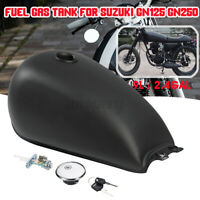 Motorcycle Steel 9L 2.4 Gal Fuel Gas Tank For Suzuki GN125 250 Cafe Racer Matte