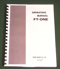 Yaesu FT-ONE Operating Manual,  Premium Card Stock Covers & 28 LB Paper!