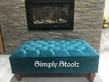 Footstool / Pouffe / Large Stool /chesterfield /soft velvet  British Made