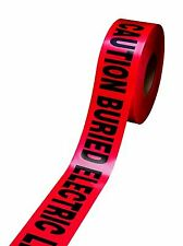 New listing 303 - Caution Buried Electric Line Below (Red) 3in x 300ft - (Pack of 1)