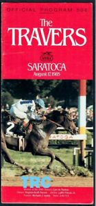CHAMPION CHIEF'S CROWN IN 1985 TRAVERS STAKES HORSE RACING PROGRAM!